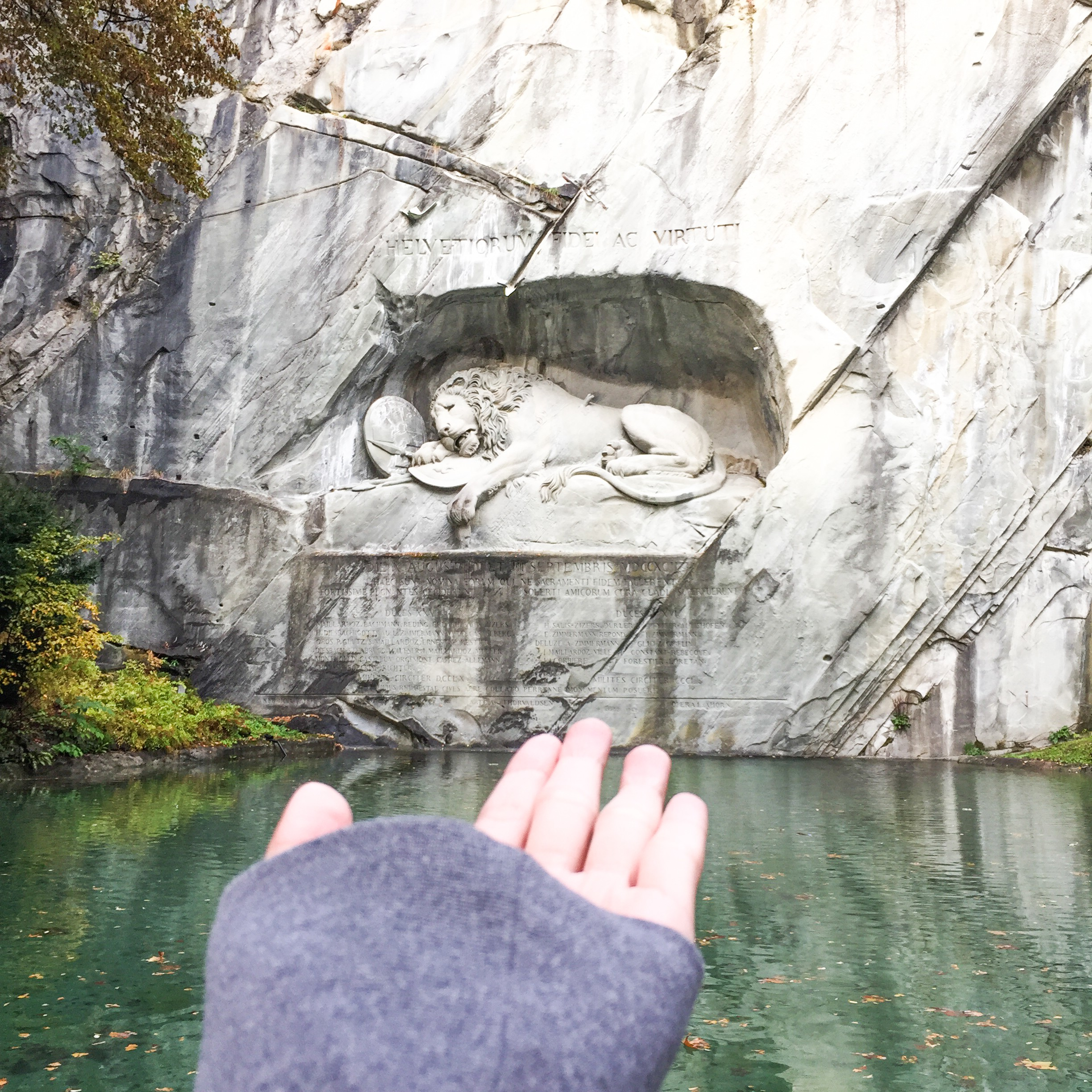 Lucerne what to do and see Lion Monument Lowendenkmal